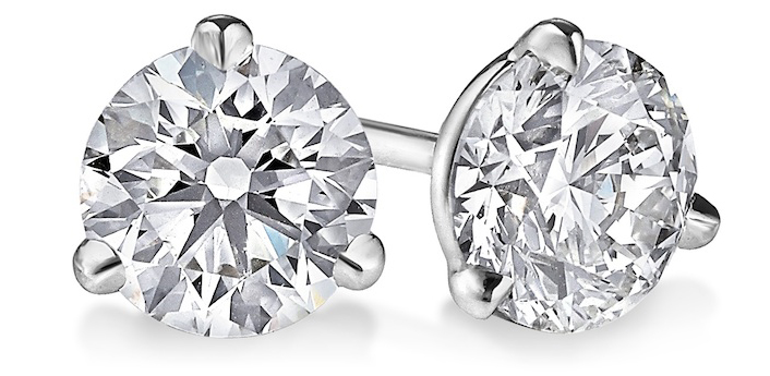 3-prong-martini-diamond stud