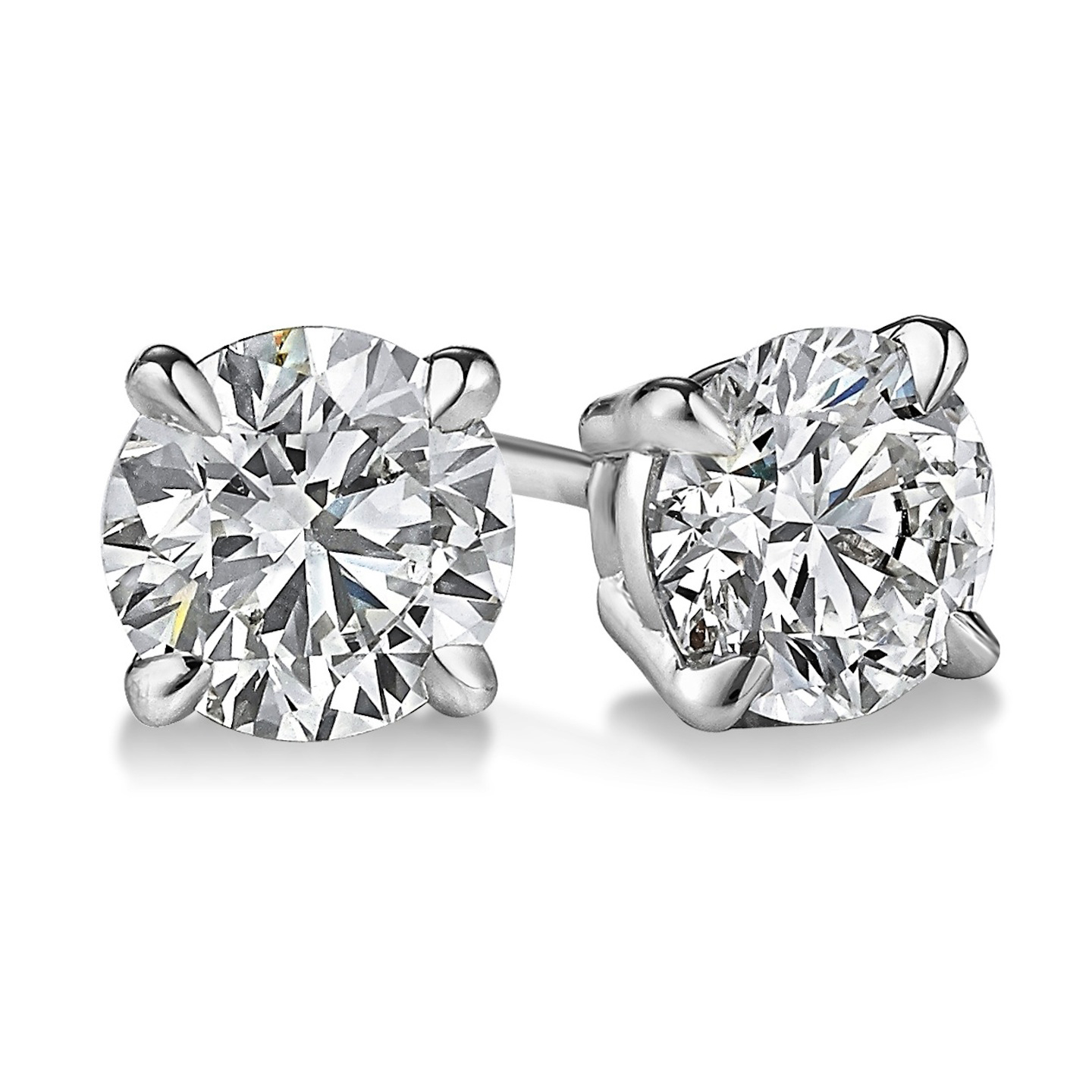 jewellers earrings diamond qp gold in white stud ctw dimond