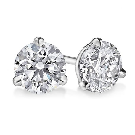 3-prong martini diamond studs
