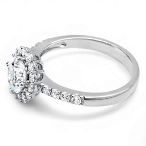 1.5 CTW Diamond Halo Engagement Ring (1 Carat Center Stone)