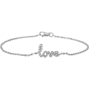 Diamond Love Bracelet White Gold