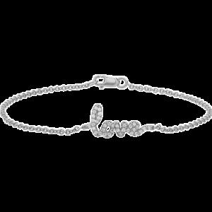 Diamond Love Bracelet White Gold